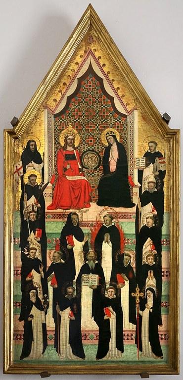 Bilde av hellige og salige dominikanere av en anonym «Maestro delle effigi domenicane» i kirken Santa Maria Novella i Firenze (ca 1335-40)