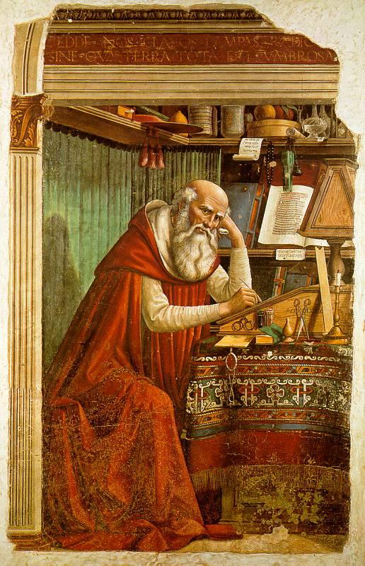 Hieronymus i sitt arbeidsrom (1480) (Domenico Ghirlandaio)