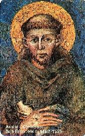 Frans av Assisi. Hentet fra http://www.vatican.va/roman_curia/vatican_city_state/telephones/