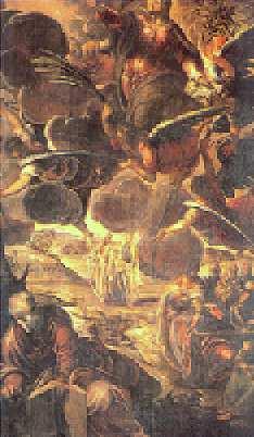 Jocopo Tintoretto (1518-94): Kristi himmelfart (1576-81), Scuola di San Rocco, Venezia