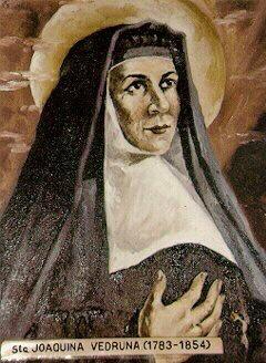 Joakima de Vedruna y de Mas; from «Los Santos Carmelitas» by Spanish Carmelite author/artist Rafael Lopez-Melus