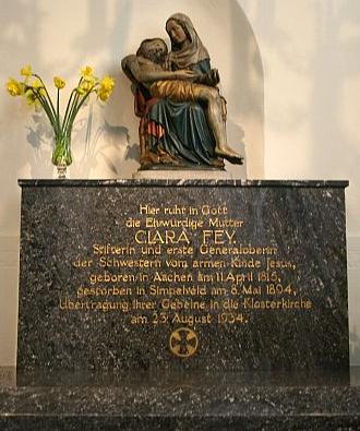 Klara Feys grav i Simpelveld