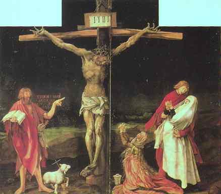 Matthias Grünewald: Korsfestelsen, ca 1510-15