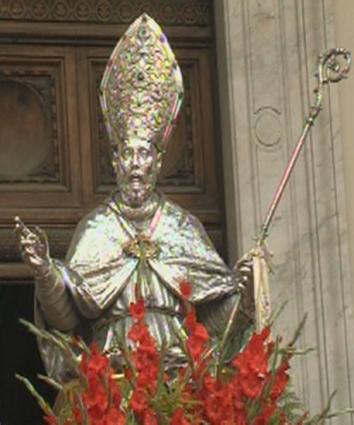 Gullbyste av San Paolino i katedralen i Nola