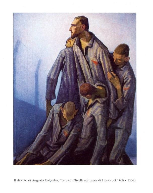 Teresius i leiren Hersbruck, oljemaleri av Augusto Colombo (1902-69)