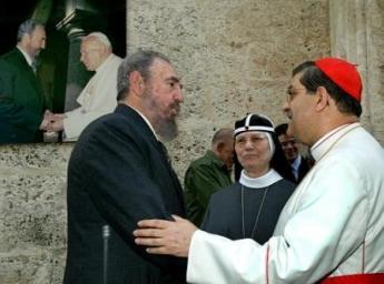 Fidel Castro, Moder Tecla og kardinal Sepe