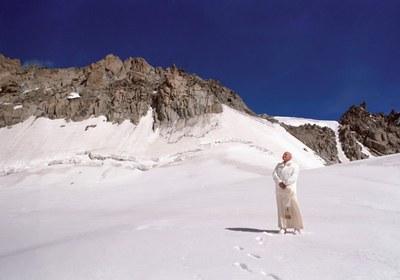 Johannes Paul II i vinterlandskap
