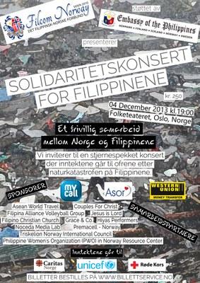 Solidaritetskonsert Filippinene
