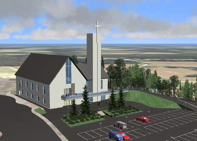 Jessheim modell av kirken