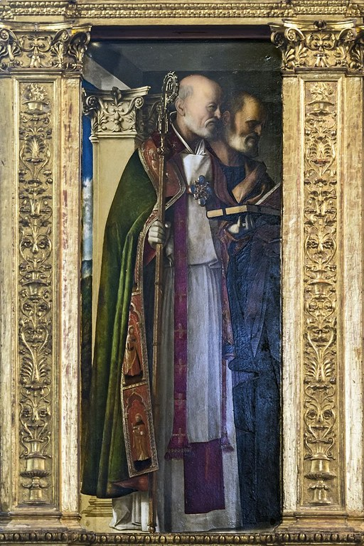 Frari_(Venice)_-_Sacristy_-_triptych_by_Giovanni_Bellini_-_Saint_Nicholas,_Saint_Peter.jpg