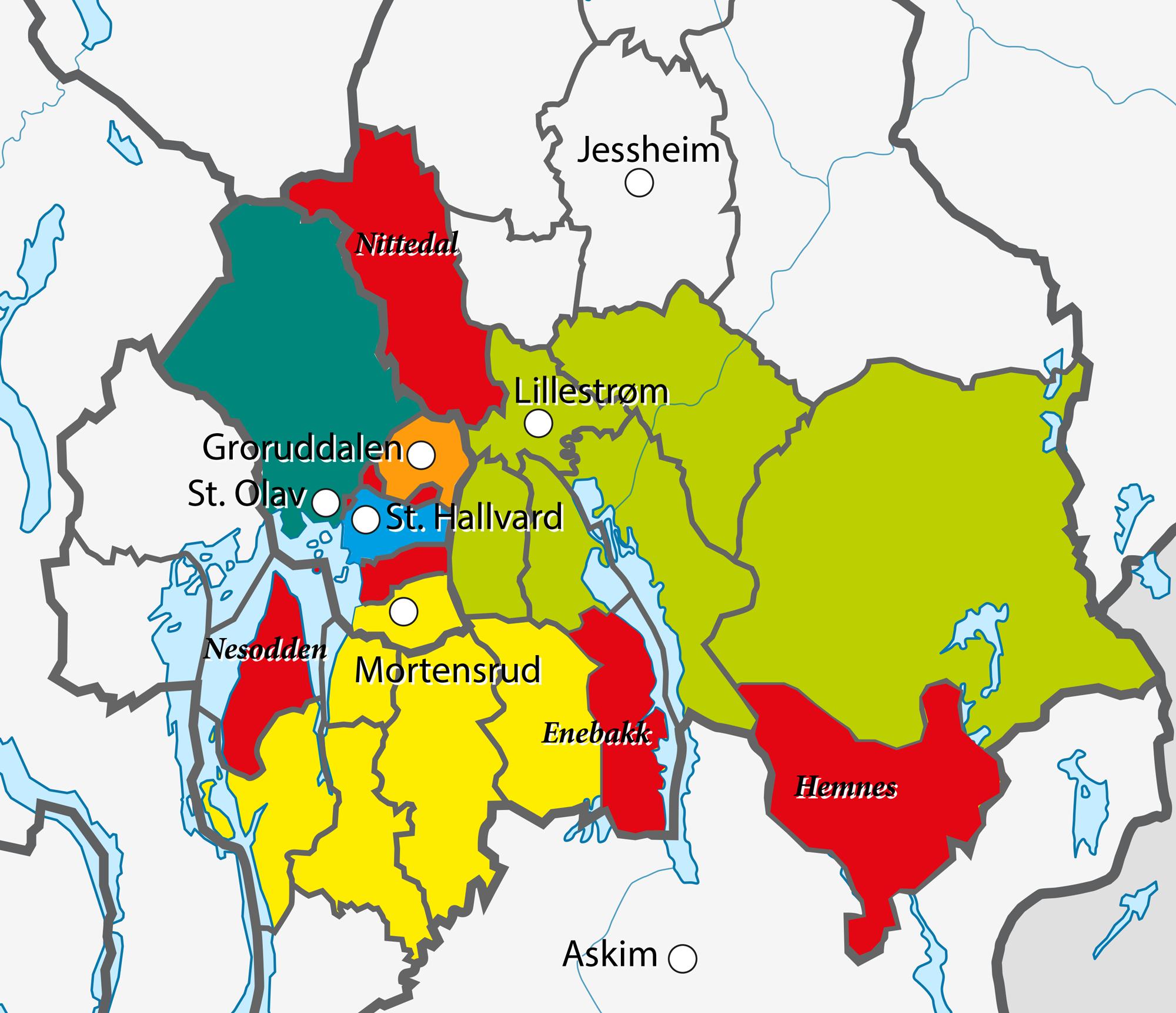 oslo fylke kart Grenser oslo fylke kart