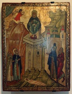 Den hellige Simeon Stylitt – Ikon fra 1500-tallet