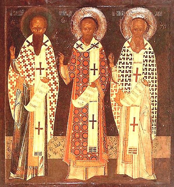 Basilios den store, Gregor av Nazianz og Johannes Krysostomos