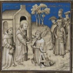 Den hellige Carilefus og kong Kildebert I av Paris og Orléans