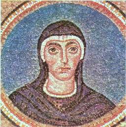 Den hellige Felicitas av Roma. Etter en mosaikk i det erkebiskoppelige museum i Ravenna