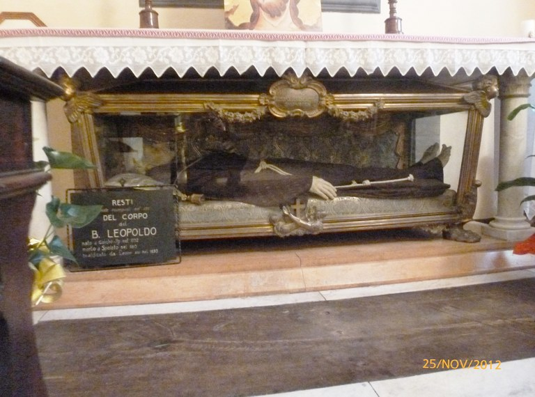 Den salige Leopolds relikvier i Monteluco ved Spoleto