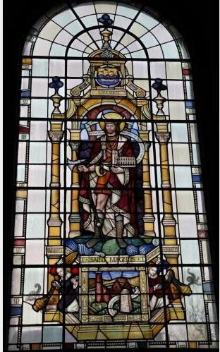 St Magnus, glassmaleri fra kirken St Magnus the Martyr Church i London
