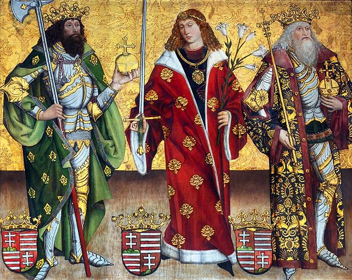 Ukjent mester: De hellige Stefan, Emerik og Ladislas (Szepeshely 1478)
