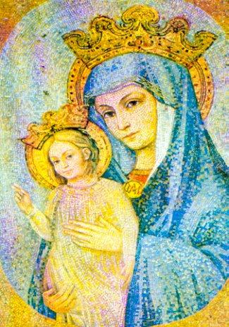 Nærbilde av mosaikken