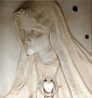 Maria med kulehull