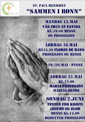 Sammen i bønn plakat