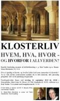 Plakat foredrag om klosterliv 2013-09-12