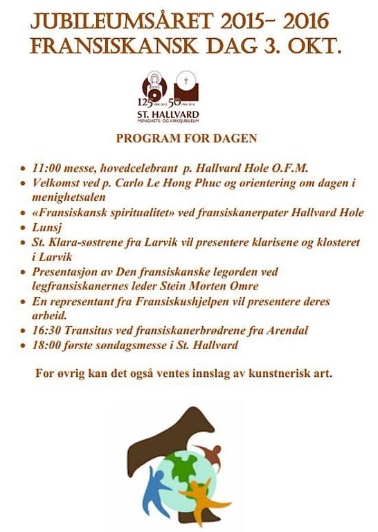 Program fransiskansk dag st Hallvard
