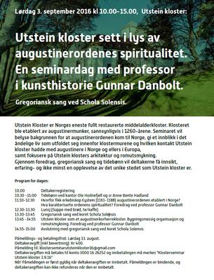 plakat klosterseminar Utstein 2016 bilde.png