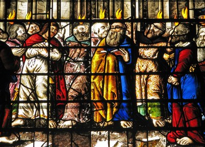 Apostles on Pentecost day
